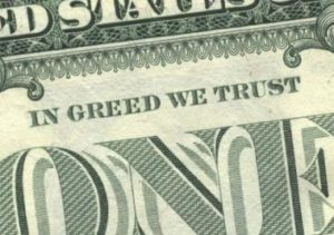 Wall Street - In Greed We Trust - Dollar Bill